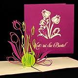 Pop-Up Karte Mutti ist die Beste Muttertagskarte,Muttertagsgeschenk, Geschenk zum Muttertag, Grüße zum Muttertag