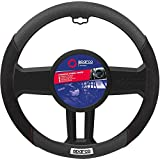 Sparco Corsa Steering Wheel Cover w/Emblem BLK/Suede