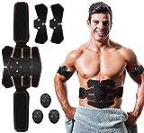 Lemeng Electroestimulador Muscular Abdominales Cinturón,Masajeador Eléctrico Cinturón,Entrenador Inalámbrico Portátil de 6 Modos de Simulación,10 Niveles Diferentes para Abdomen/Cintura