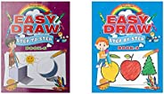 Easy Draw ...Step By Step Book - 5+Easy Draw: Step By Step - Book 3 (Set Of 2 Books)