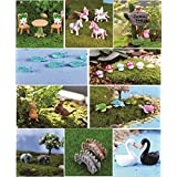 Chocozone Pack of 24 Animal Miniatures Garden Décor Items Small Animal Toys Resin Landscape Decorations