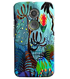Blue Throat Jungle Cartoon Effect Printed Designer Back Cover/ Case For Motorola Moto X2