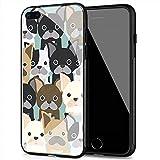 YINZONGSTORE iPhone 11 PRO Max Custodia, Cover Posteriore in Vetro temperato Soft Bumper in Silicone Compatibile con iPhone 11 PRO Max AMA-34 Bulldog Francese
