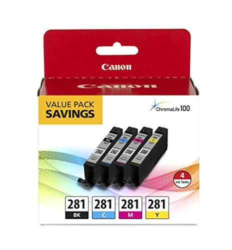 canonink 2091C005Inkjet Drucker Tintenpatrone cli-281BKCMY 4Pack - Canon 4 Tinte Pack