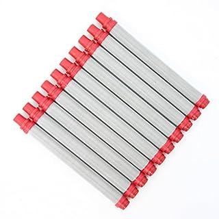 10x 180 - 200 Maschen Filter - Airless Pistolenfilter 200 Mesh rot