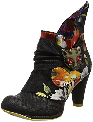Irregular ChoiceMiaow - Stivaletti donna Black (Black/Red Floral)