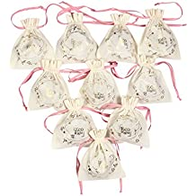 EcoRight Gift Jewelry Bags for Wedding Favor Candy Watches (Medium) - Pack of 10-1301S06
