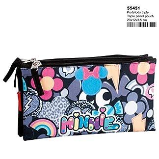 Minnie Mouse Patch – Estuche portatodo Triple (Perona 55451)