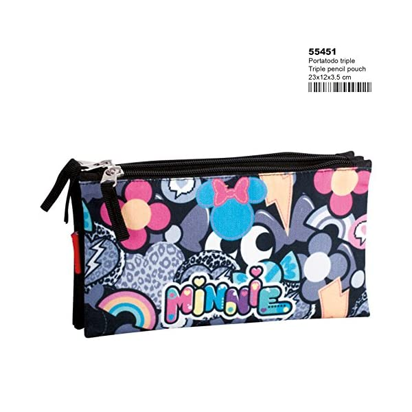 Minnie Mouse Patch – Estuche portatodo Triple (Perona 55451)