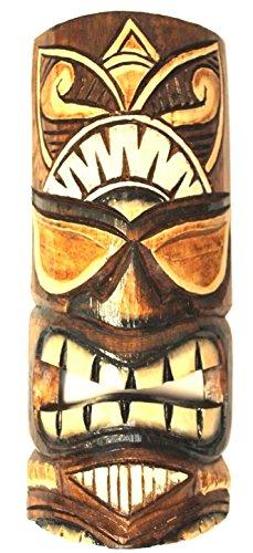 Wohnkult Mascarilla de Pared de 50 cm, máscara Hawaiana de Madera, Tabla de Pared, Cartel de Pared del mar del Sur