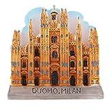 P Prettyia Imán de Refrigerador Decoraciones de Atracciones Turísticas Recuerdo de Turismo de Milan/Venecia - Catedral de Milán