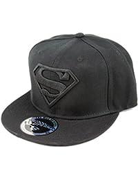 DC Comics Superman Herren Baseball Cap - Classic Logo Snapback Cap Schwarz