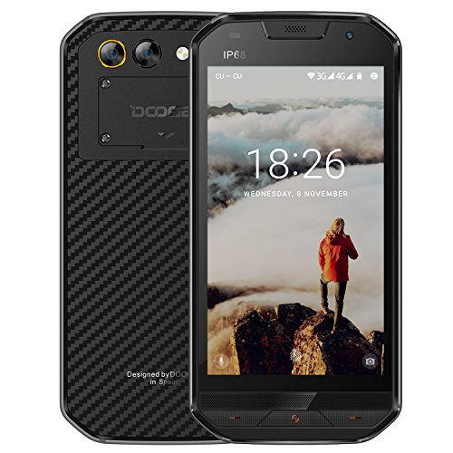 Smartphone ohne Vertrag, DOOGEE S30 Wasserdichte Outdoor Handy, Dual SIM Robustes Smartphones Android 7.0, 4G 5.0 Zoll IPS MTK6737V, 2GB + 16GB, 8.0 MP+3.0MP Dual Kamera + 5.0 MPFront Kamera, 5580mAh