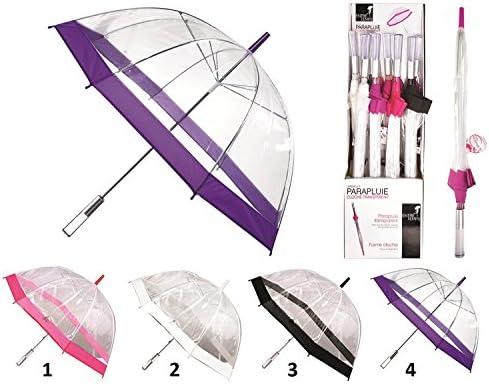 Parapluie Long Dome Transparent 80 cm Modèle 4 Violet - Pluie Protection - 846   Nous Avons Gagné Les éloges De Clients