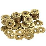 Hestya 1 Zoll Chinesische Glück Münzen Feng Shui I-Ching Münzen Chinesische Glück Münzen Alte chinesische Dynastie Zeit Münze (100)