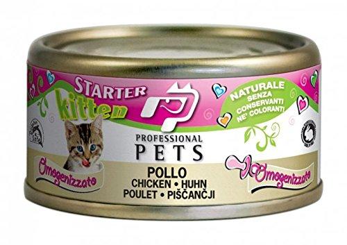 STARTER KITTEN POLLO 24 scatolette umido per gatto mousse per gattini 70 grammi