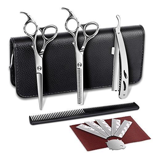 Haarschere Haarschneideschere Friseurschere schere haare schneiden Set profi rostfreier Qualitätsstahl von ELEHOT