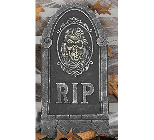 Schädel R.I.P. Halloween Horror Party Dekoration Deko Tod 65 x 33 cm ()