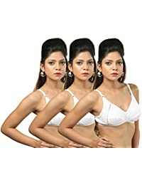 White Cotton Bra Pack of 3