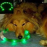 EisEyen LED Hundehalsband, LED Leuchthalsband Hunde Halsband USB Wiederaufladbar für Hunde, Katzen, Kabel im Lieferumfang enthalten