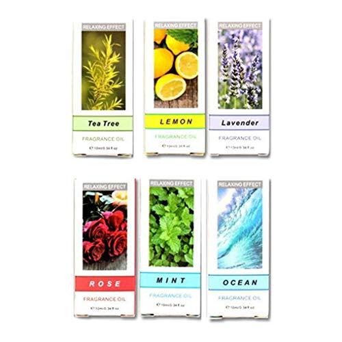 Vkospy 6PCS / Set Pure Natural Aromaöle Kit 10ml Luftbefeuchter Wasserlösliche Duftöl Massage-wesentliches Öl - Duft Additiv Luftbefeuchter