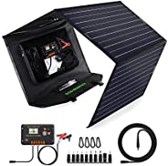 ECO-WORTHY 120W Foldable Solar Panel kit with 20A LCD Charger Controller with USB Port for Portable Generator/