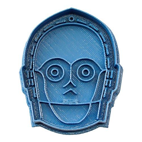 Cuticuter Star Wars C3PO Ausstechform, Blau, 8x 7x 1.5cm