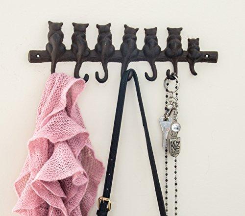 Comfify   Gancho pared hierro fundido 7 gatos   Estante