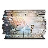 Kreative Feder Architektur Designer Schlüsselbrett, Hakenleiste Landhaus Style, Shabby aus Holz 30x20cm, HSB007