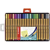 Stylo feutre pointe fine - STABILO Point 88 - Coffret de 25 stylos-feutres - Coloris assortis