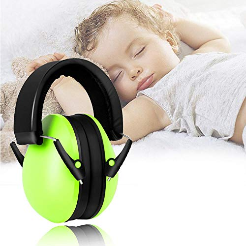 Baby-Ohrenschützer mit Geräuschunterdrückung, Einstellbarer Komfort Gehörschutz für Neugeborene, Kleinkinder, Jungen, Mädchen, Baby-Kopfhörer, geräuschdämpfend, gemütlicher Ohrschutz grün