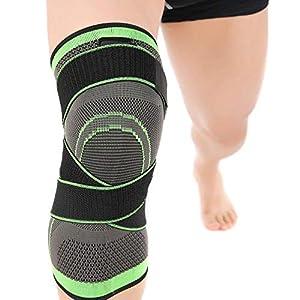 Gereton Support Kniebandage 3D Weaving Knee Brace Atmungsaktive Sleeve Support Verstellbare Knieschoner Laufen Joggen…