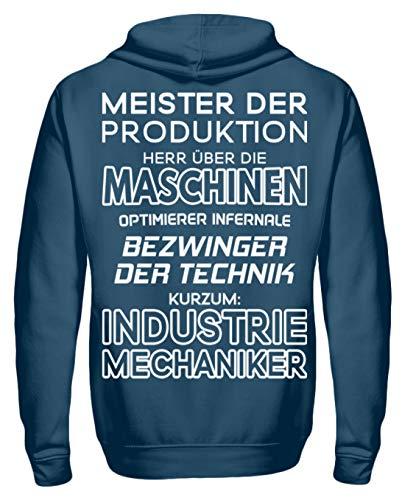 Shirtee Herr über die Maschinen - Industriemechaniker - Geschenkidee - Geschenk - Unisex Kapuzenpullover Hoodie -XL-Azurblau