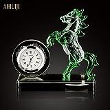 Duft Auto Auto Sitz Sitz Duft Duft Auto Pferd aus Kristallglas Schmuck kreative Deko-Lieferungen die Uhr grün