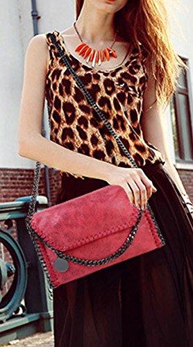 Rovanci Damen Handtasche Elegant Tote Handtasche Taschen Damen Shopper Schultertasche Schwarz Rot