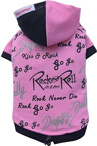 Doggy Dolly W242 Kapuzenshirt für Hunde Rock&Roll, rosa, Größe : M