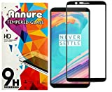 #8: Annure 3D [Shatterproof] Edge To Edge Tempered Glass Screen Protector For Oneplus 5T - Black
