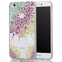 Huawei P10 Lite Hülle, MKOAWA Kunst Gemaltes Kristall Bling Glänzend Funkeln Glitzer Durchsichtig Klar TPU Silikon Hüllen Schutz Handy Tasche Etui Bumper Hülle für Huawei P10 Lite (No.2)