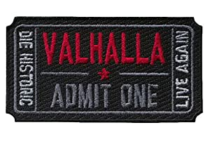 Hook Fastener Ticket to Valhalla Morale Military Tactical Vikings Mad Max Patch Tactique Écusson Brodé Fixation Crochet Par Titan One Europe