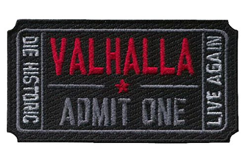 Preisvergleich Produktbild Klettverschluss Ticket to Valhalla Morale Military Tactical Vikings Patch from Mad Max movie
