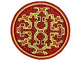 ImZauberwald Icaro Ayahuasca Aufnäher (20cm, Schwarzlicht aktiv, handgestickt ohne PC) psychedelic DMT Trip Visionsmuster Shipibo Conibo Yage patch