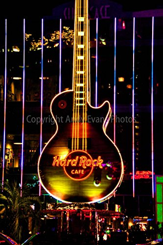 hard-rock-cafe-photograph-a-12x18-photographic-print-of-the-hard-rock-cafe-neon-guitar-sign-at-night