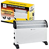 Convector Heater with Adjustable Thermostat, 2 Kilowatt, 400 x 576 x 122 mm