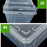 Generic Transparent Wasserreptil Zuchtbox Insektenbox für Reptilien - 25x17.5x11cm