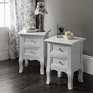 Windsor AGTC0013 Double Set of Two Bedside Tables Nightstands by UEnjoy