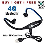 #5: Zoyo Sports Bluetooth Headset Headphones Compatible with Samsung, Motorola, Sony, Oneplus, HTC, Lenovo, Nokia, Asus, Lg, Coolpad, Xiaomi, Micromax and All Android Mobiles (With Micro Sd Card Slot and FM Radio) Bluetooth Neckband (Color May Very)