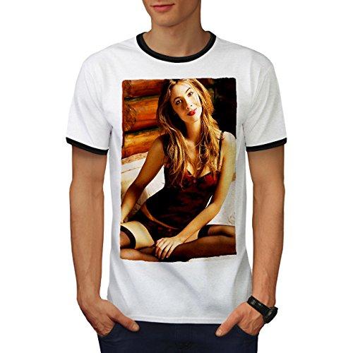 Unterwäsche Mädchen Bikini Sexy Schön Frau Herren M Ringer T-shirt | Wellcoda (Ringer Mädchen Herz)