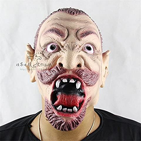 SQCOOL Halloween Maske Gesicht Anger Evil Spirits Zombie Dance Requisiten Qualität Silikon (Schwarze Katzen-kostüm Diy)