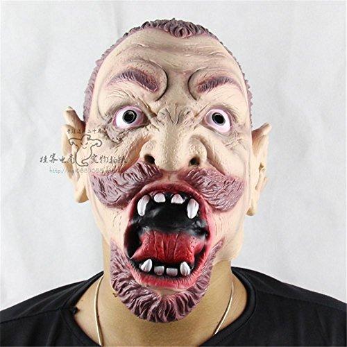 SQCOOL Halloween Maske Gesicht Anger Evil Spirits Zombie Dance Requisiten Qualität Silikon Material (Diy Minion Kostüm Erwachsene)