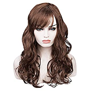 Hemore Women Long Big Wavy Wig Hair Cosplay Party Costume